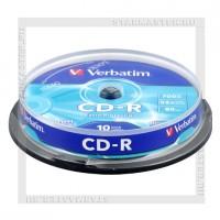 Диск Verbatim CD-R 700Mb (80 min) 52x Extra Protection cake box 10