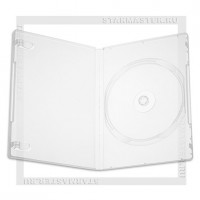 Коробка DVD Box 1-2 диска 14мм Clear (1 высокое гнездо)
