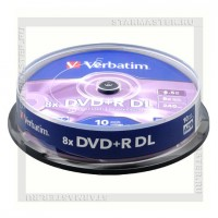 Диск Verbatim DVD+R DL 8,5Gb 8x cake box 10