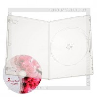 Коробка DVD Box 1 диск Clear 7мм (slim)
