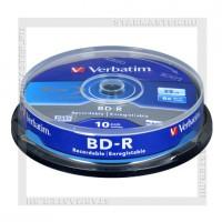 Диск Verbatim BD-R 25Gb 6x cake box 10