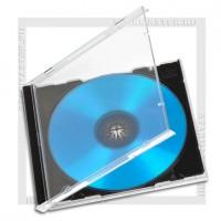 Коробка CD Box 1 диск Jewel black (Т) полновесный трей