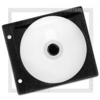 Конверт для 2 CD дисков с перфорацией, альбомный, черный, упаковка 50 шт
