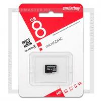 Карта памяти microSDHC 8Gb SmartBuy (Class 4, без адаптера)