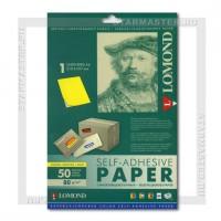 Самоклеющаяся неделенная бумага Lomond A4 универсальная 78г цвет лимон желт. 50л