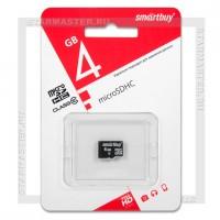 Карта памяти microSDHC 4Gb SmartBuy (Class 10, без адаптера)