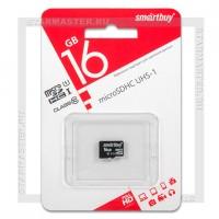 Карта памяти microSDHC 16Gb SmartBuy (Class 10, без адаптера)