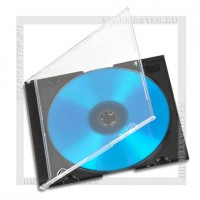 Коробка CD Box 1 диск Slim black 5mm (200Т)