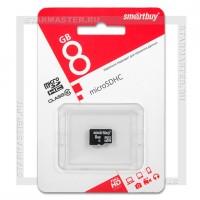 Карта памяти microSDHC 8Gb SmartBuy (Class 10, без адаптера)