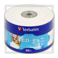 Диск Verbatim CD-R 700Mb (80 min) 52x Printable Shrink 50