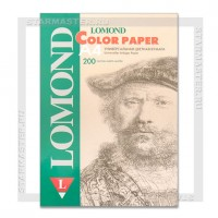 Бумага офисная цветная A4 Lomond 75 г/м2 200л, неоновая розовая
