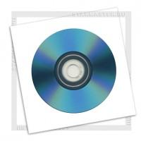 Конверт для CD/DVD диска бумажный с окном, без клея, упаковка 100 шт