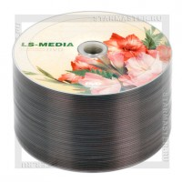 Диск LS-MEDIA DVD-R 4,7Gb 16x bulk 50 «Цветы» Гладиолусы