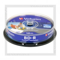 Диск Verbatim BD-R 25Gb 6x Printable cake box 10