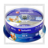 Диск Verbatim BD-R 25Gb 6x Printable cake box 25