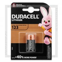 Батарейка CR123A 3V Lithium Duracell Ultra Blister/1