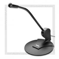 Микрофон SVEN MK-200, Jack 3.5мм, 1.8м, крепление на стол/монитор, черный