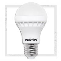 Светодиодная лампа E27 A60 7W 3000K, SmartBuy LED 220V