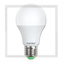 Светодиодная лампа E27 A60 9W 3000K, SmartBuy LED 220V
