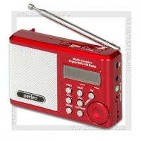 Радиоприемник Perfeo Sound Ranger УКВ+FM, MP3, USB/microSD, аккумулятор, красный