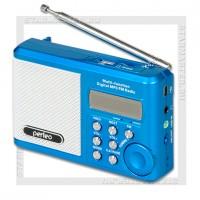 Радиоприемник Perfeo Sound Ranger УКВ+FM, MP3, USB/microSD, аккумулятор, синий