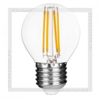 Светодиодная лампа Filament E27 5W 3000K, SmartBuy LED G45 220V