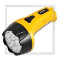 Фонарь аккумуляторный Smartbuy 220V 15+10 LED, желтый