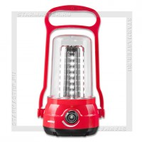 Светильник-фонарь кемпинговый SmartBuy 41 LED, аккумулятор, 220V, диммер, красный
