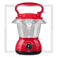 Светильник-фонарь кемпинговый SmartBuy 12 LED, аккум 220V, диммер, красный