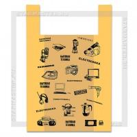 Пакет майка 40*60, 16 мкм, «Электроника», желтый (большой №4), уп. 100 шт.