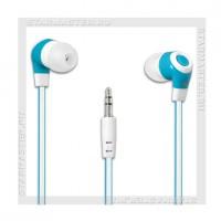 Наушники-вкладыши DEFENDER Trendy 702 белый+голубой