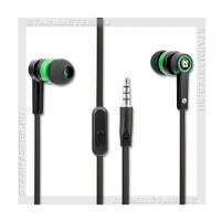 Стереогарнитура для мобильного телефона DEFENDER Pulse 420, 3.5мм черный+зеленый
