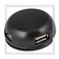 Концентратор USB-хаб DEFENDER 4 порта Quadro Light Black (черный)