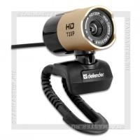 Web-камера DEFENDER G-lens 2577 2Мп HD720p, линза 5-слойное стекло, микрофон