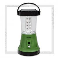 Светильник-фонарь кемпинговый SmartBuy 1W+17 LED, аккумулятор, солнечная батарея, 220V, зеленый