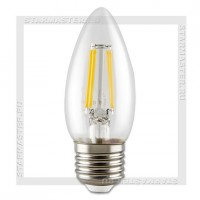 Светодиодная лампа Filament E27 5W 3000K, SmartBuy LED C37 220V