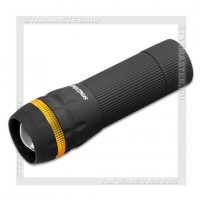 Фонарь SmartBuy 3W LED, zoom, черный, 3xAAA