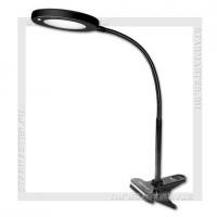 Светильник настольный LED SmartBuy 8W, 220V, клипса, гибкий, черный
