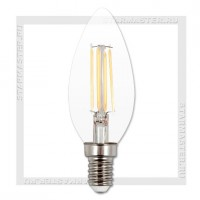 Диммируемая светодиодная лампа E14 5W 3000K, SmartBuy LED C37 Filament 220V