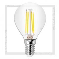 Диммируемая светодиодная лампа E14 5W 3000K, SmartBuy LED P45 Filament 220V