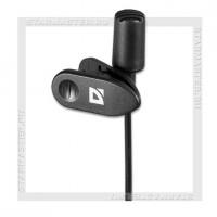 Микрофон DEFENDER MIC-109, Jack 3.5мм, 1.8м, на прищепке, черный