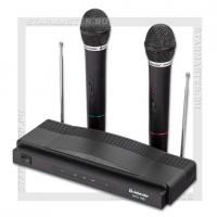 Микрофон DEFENDER MIC-155, караоке, беспроводной, черный, комплект 2шт