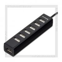 Концентратор USB-хаб DEFENDER 7 портов Quadro Swift Black (черный)