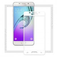 Защитное стекло Perfeo для Samsung A3 (2016), Full, белое, Asahi 0.33мм (0036)