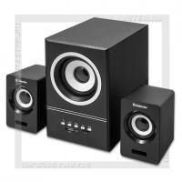 Акустическая система 2.1 DEFENDER V10, 11Вт, FM/MP3, 220V, МДФ, черный