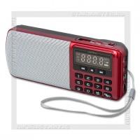 Радиоприемник Perfeo i120 «ЕГЕРЬ» УКВ+FM, MP3, USB/microSD, аккумулятор, красный