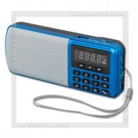 Радиоприемник Perfeo i120 «ЕГЕРЬ» УКВ+FM, MP3, USB/microSD, аккумулятор, синий