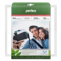 Бумага для струйной печати Perfeo A4 глянцевая односторонняя 230 г/м2 G04, 50л