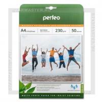 Бумага для струйной печати Perfeo A4 матовая односторонняя 230 г/м2 M02, 50л