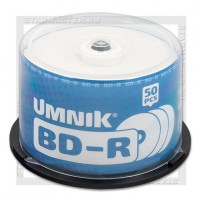 Диск BD-R 25Gb UMNIK 6x Full Printable cake 50